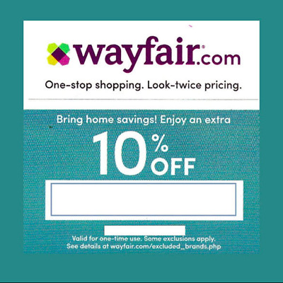 WAYFAIR Coupon ~ 10% Off Your Entire Order * Exp 3/31/19