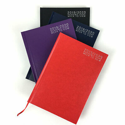 A5 Academic Diary Mid Year Week to View Student Teacher Office Planner 2019 -20