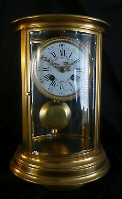 19th Cent French Oval Four Glass Clock