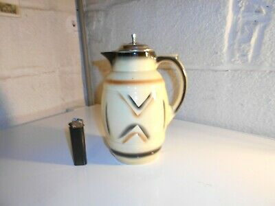Beau Pichet Art Deco Avec Couvercle Argente Made In Germany Musterschule