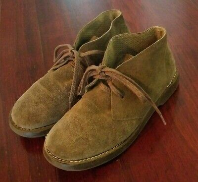 Crewcuts Kids Chukka Boots Leather Suede Brown Lace Up Boys Girls Size K1
