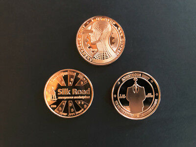 Anonymous Mint Complete Copper Bitcoin Set .999 Fine 1 Ounce Rounds
