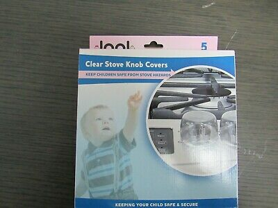 NEW Baby Proof by Jool Baby-Clear Stove Knob Covers 5 Pck Large Universal Design