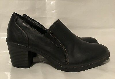 0361a0082cc Merona Womens Shoes Size 8.5 Heel Slip-on Leather Ankle Bootie Black