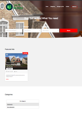 Property Real Estate Listings Online Business Website For Sale  - Classified ads