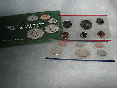 1993 United States Philadelphia and Denver Mint Uncirculated Coin Set