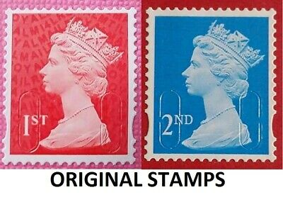 Royal Mail™ Unfranked Stamps • 1st & 2nd | Standard  |  No Gum RED GOLD JUBILEE