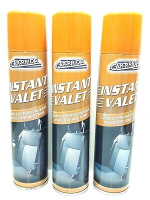3 Pcs Car Pride Instant Valet Clean Restores Upholstery Remove Stains Dirt Dust