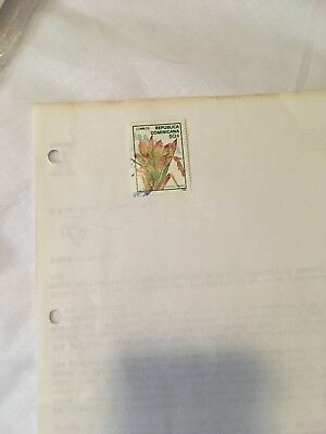 1 Used Stamp Of Dominican Republic 1988