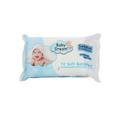 12 Soft Baby Dream Fragrance Free Wipes Paraben Free Alcohol Free 72s OFFER