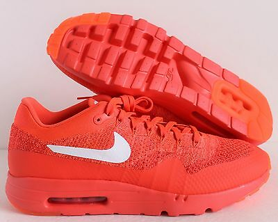 NIKE AIR MAX 1 Ultra Flyknit Bright Crimson White Red Sz 13 [843384 601]