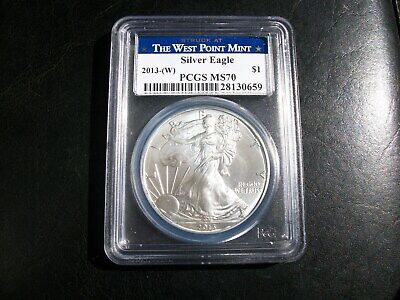 2013 - W American Silver Eagle The WEST POINT Mint PCGS 70