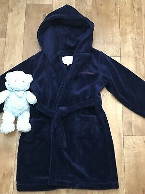 Boys Jasper Conran Navy Soft Fleece Dressing Gown/Robe Size 4-5yrs RRP£28.00 A12