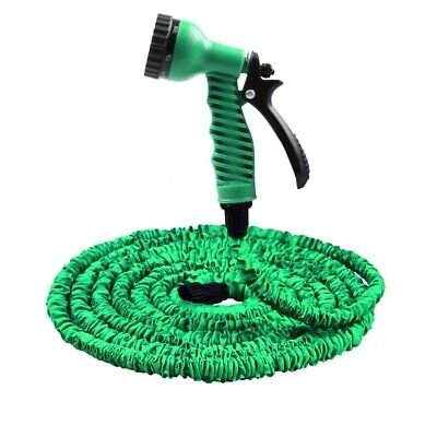 Garden Water Hose Spray Nozzle 25FT 100FT Green Hoses Pipe With Spray Gun Plastc