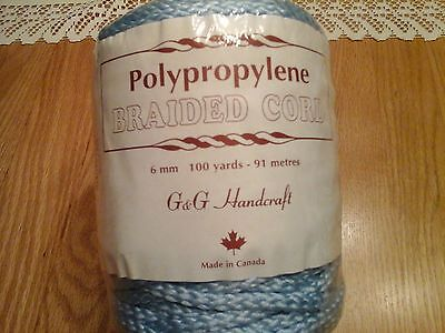 G & G Polypropylene 6 mm Braided Cord blue 100 yards 91 meters