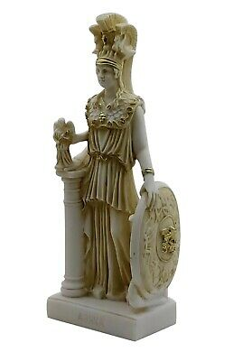 Athena Minerva Greek Goddess Cast Marble Museum Copy Statue Sculpture 10 in