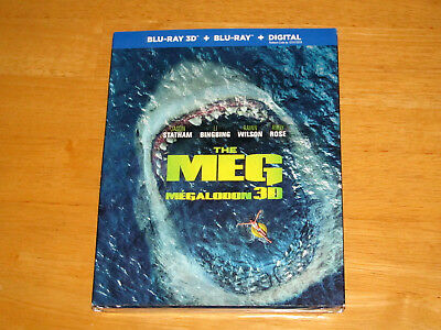 THE MEG (3D, Blu-ray, 2018, Includes Digital Copy *NEW*)