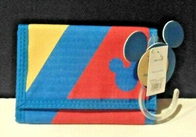 NEW WITH TAGS DISNEY X JUNK FOOD TARGET MICKEY MOUSE TRI-FOLD WALLET MEN/'S