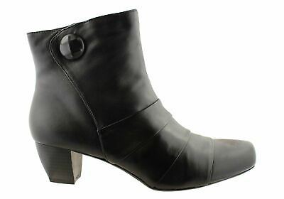 New Hush Puppies Suburban Womens Leather Medium Heel Ankle Boots
