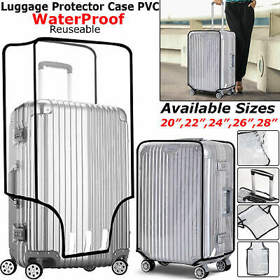 Waterproof Transparent Protective Luggage Suitcase Cover Case Travel Universal