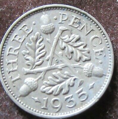 British - 1935 - George V  Three Pence - Silver coins