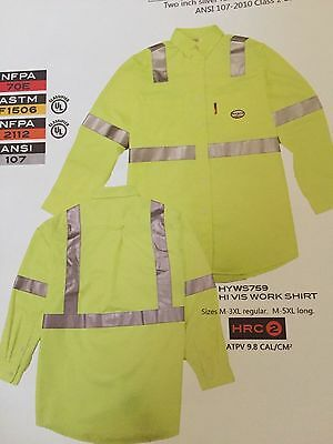 Rasco FR Hi Vis  Work Shirt NWT