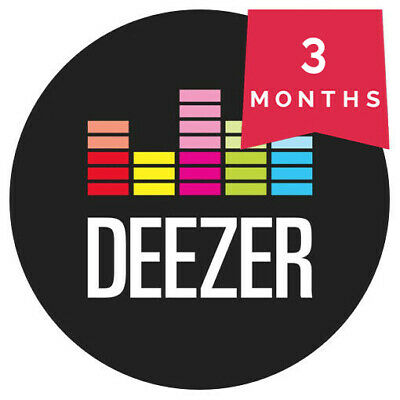 Deezer 3 Months Premium - Personal, Not shared