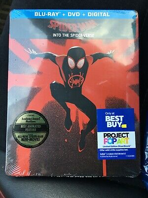Spider-Man: Into the Spider-Verse (STEELBOOK)(Blu-ray + DVD + Digital) -SOLD OUT
