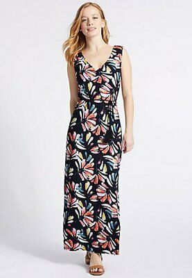 2b9b15768b8 BRAND NEW EX Marks & Spencer Collection Leaf Print Maxi Dress Size 12-32