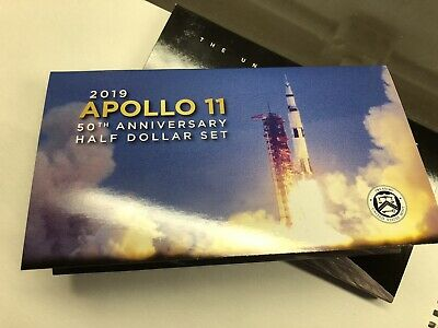 2019 S Apollo 11 Proof Clad Half Dollar With 50th Anniversary Set Packaging