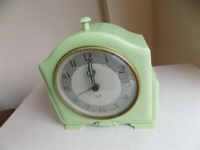 Art Deco Green Bakelite Sectric SMITHS Alarm Clock