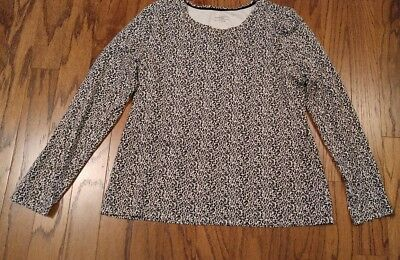 Charter Club Women/'s Top Blouse Animal Print with Accent 100/% Cotton 0X $27.98