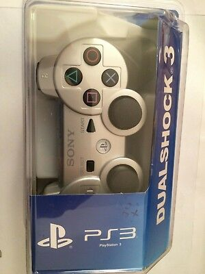 MANETTE PS3 dualshock 3 sony WIRELESS CONTROLLER ARGENT BLISTER SEALED NEUF NEW