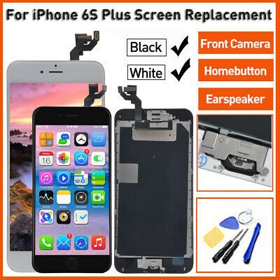 Black / White For iPhone 6S Plus LCD Touch Screen Replacement Complete Assembly