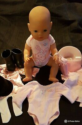 Baby Born Doll With Potty And  Clothes