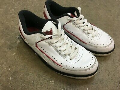 check out d92cb a4c06 Nike Air Jordan II 2 Retro Low CHICAGO WHITE VARS RED BLACK 832819-101 Size