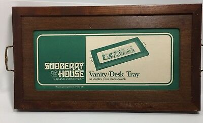 Sudberry House Rectangular Wood Vanity Dresser Desk Tray Needlework Display