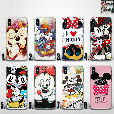 Mickey Minnie Mouse Cartoon Disney Kids Cute Love Thin Uv Case Cover For Iphone
