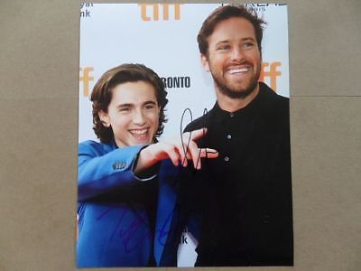"Timothee Chalamet, Armie Hammer Signed //Autographed Photo ""Call Me by Your Name"