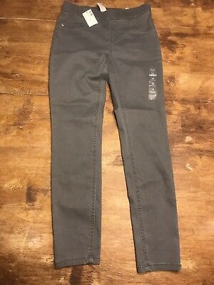 Justice Jeans Legging Mid Rise Grey Soft& Stretchy Nwt 14