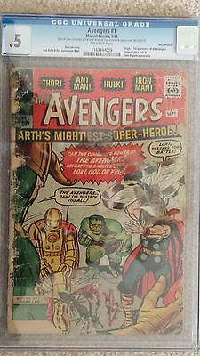 The Avengers #1 CGC .5 (Marvel Comics 9/1963) Rare!