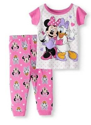 01a4dcbc4 NWT Disney Baby Girls Size 9 Mth Minnie Mouse Daisy Duck Pajamas NEW *