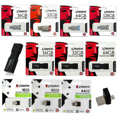 Kingston USB-Stick 16GB 32GB 64GB 128GB MicroUSB OTG Adapter DT50 DT100 Speicher