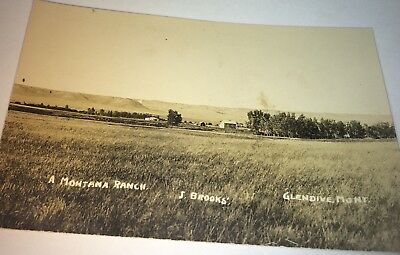 Rare Antique Western American Montana Ranch Landscape Real Photo Postcard! RPPC!