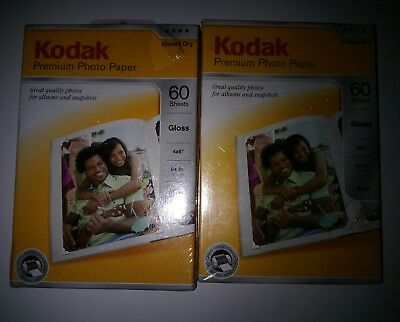Kodak Premium Photo Paper 4X6 Gloss 60 Sheets Sealed Boxes lot of 2