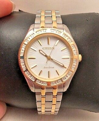 Citizen Eco-Drive Ladies Carina Diamond White Dial Dress Watch EM0244-55A-H49