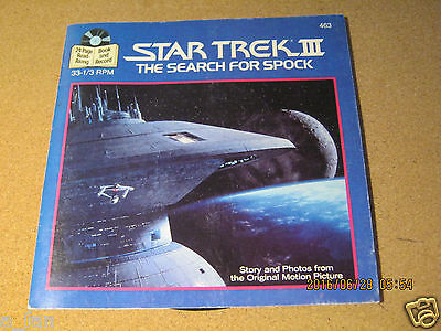 Star Trek III The Search For Spock Book & Record - Buena Vista Records 1984   ZQ
