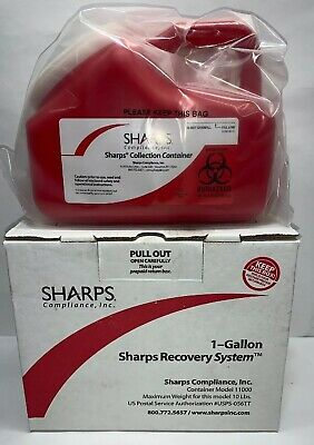 Sharps Recovery 1 Gallon USPS Return System Container Model 11000- UNUSED
