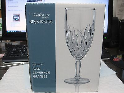 Set of 4 MARQUIS by WATERFORD Brookside Iced Beverage Crystal Glasses NIB LQQK