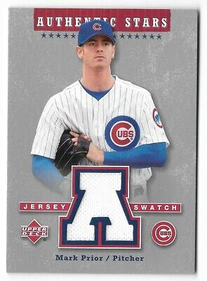Mark Prior 2003 Upper Deck Authentic Stars Game-Used Jersey Relic #ASMP Cubs